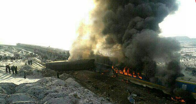 ضایعه دردناک برخورد قطار مسافربری تبریز-مشهد را تسلیت می گوییم